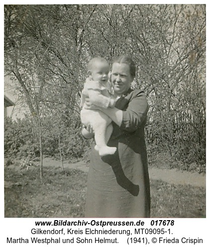 Gilkendorf, Martha Westphal und Sohn Helmut