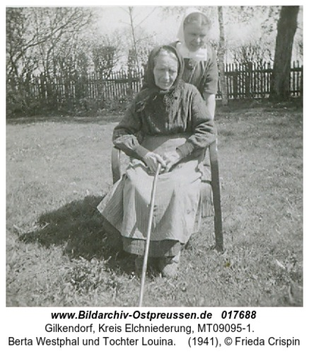 Gilkendorf, Berta Westphal und Tochter Louina