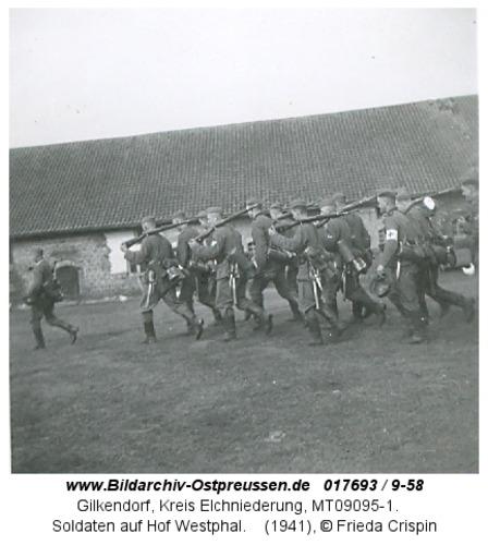 Gilkendorf, Soldaten auf Hof Westphal