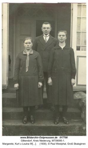 Gilkendorf, Margarete, Kurt u Louina Westphal