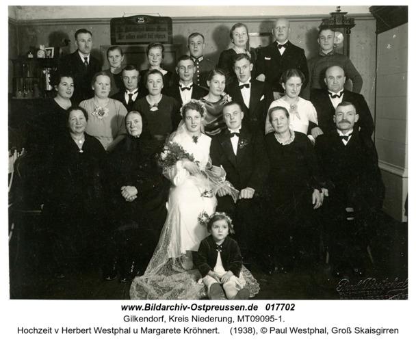 Gilkendorf, Hochzeit v Herbert Westphal u Margarete Kröhnert