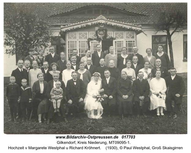 Gilkendorf, Hochzeit v Margarete Westphal u Richard Kröhnert