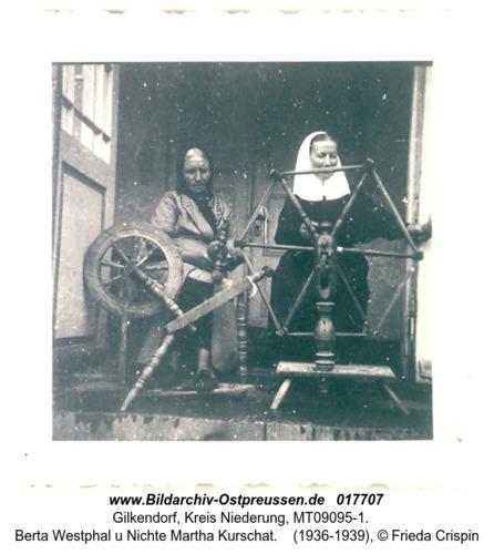 Gilkendorf, Berta Westphal u Nichte Martha Kurschat