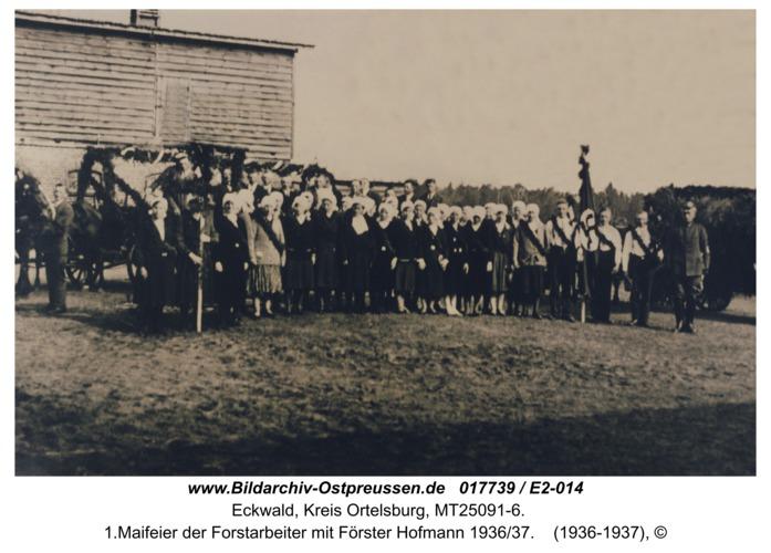Eckwald, 1.Maifeier der Forstarbeiter mit Förster Hofmann 1936/37