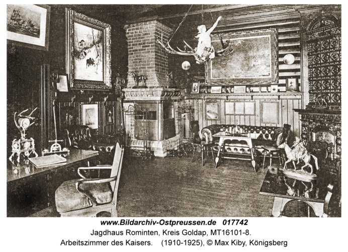Jagdhaus Rominten, Arbeitszimmer des Kaisers