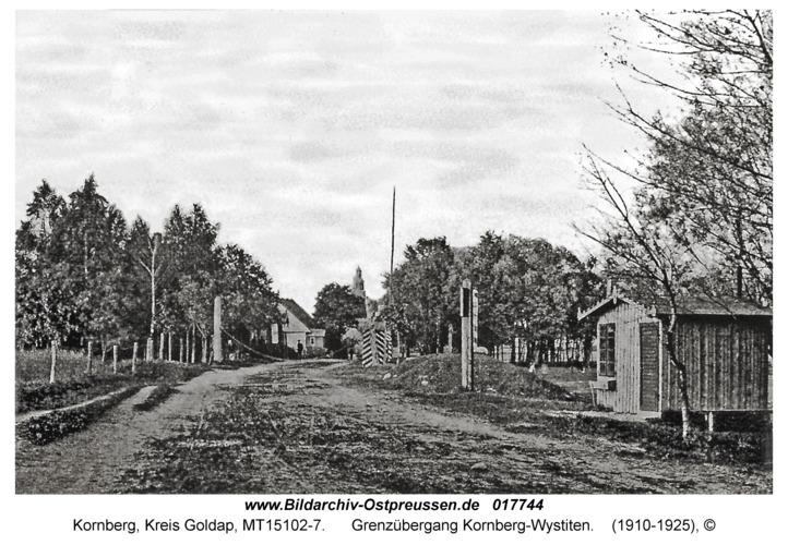 Kornberg, Grenzübergang Kornberg-Wystiten