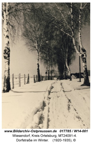 Wiesendorf, Dorfstraße im Winter