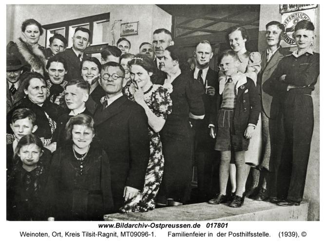 Weinoten, Familienfeier in der Posthilfsstelle
