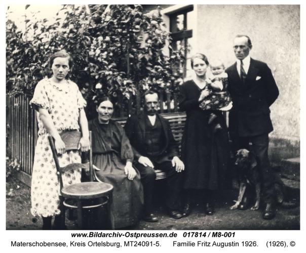 Materschobensee, Familie Fritz Augustin 1926
