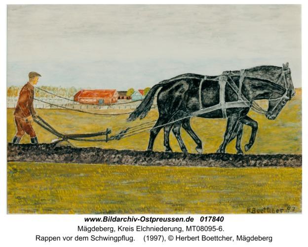 Mägdeberg, Rappen vor dem Schwingpflug