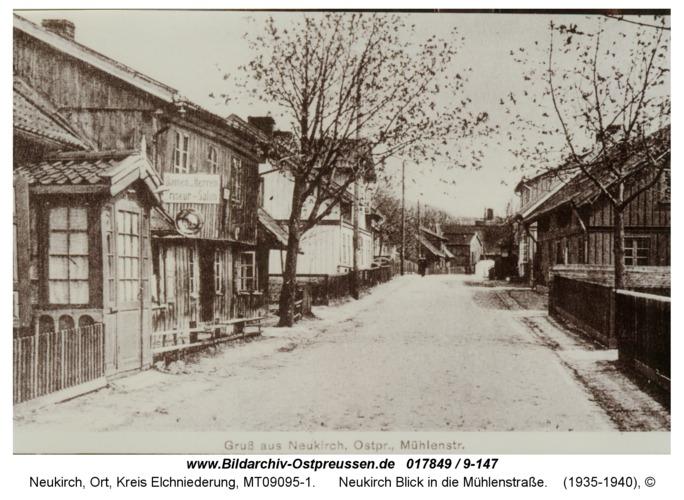 Neukirch Blick in die Mühlenstraße