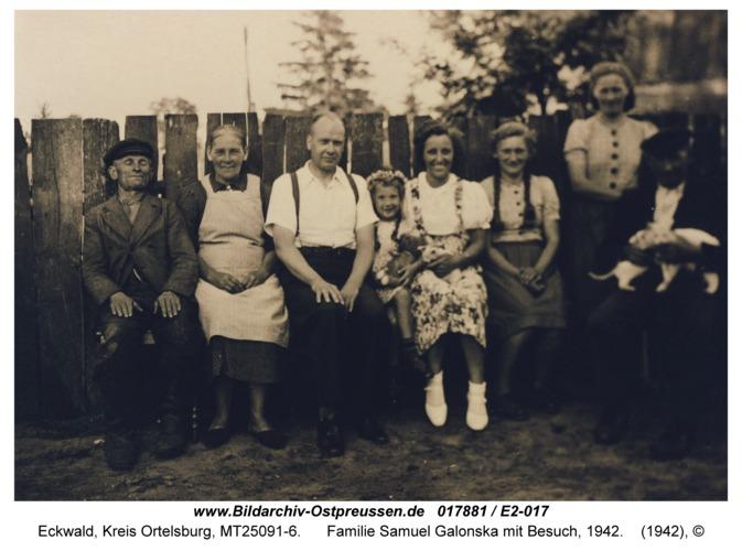 Eckwald, Familie Samuel Galonska mit Besuch, 1942