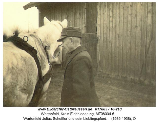 Wartenfeld Julius Scheffler und sein Lieblingspferd