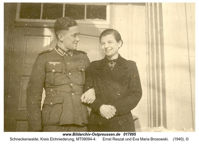Schneckenwalde, Ernst Reszat und Eva Maria Brosowski