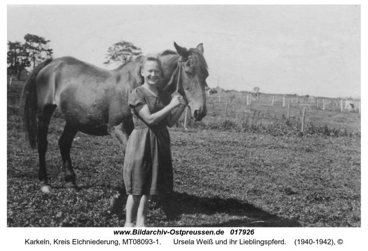 Karkeln, Ursela Weiß und ihr Lieblingspferd