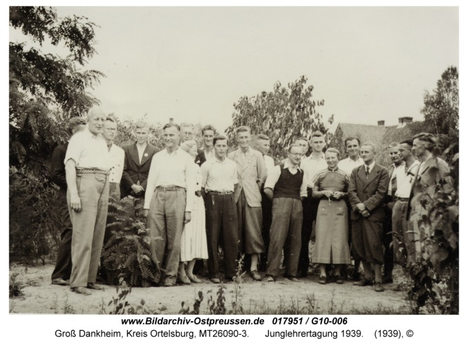 Groß Dankheim, Junglehrertagung 1939
