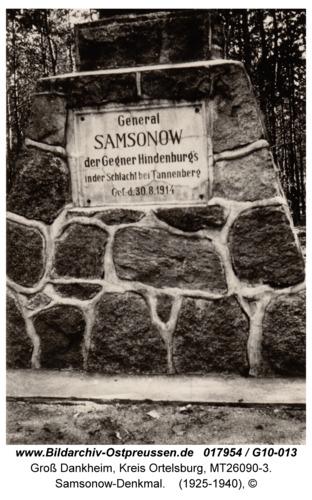 Groß Dankheim, Samsonow-Denkmal