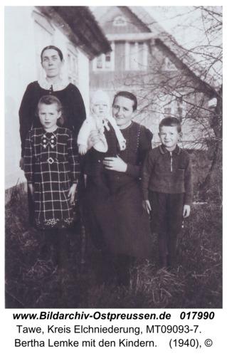 Tawe, Bertha Lemke mit den Kindern