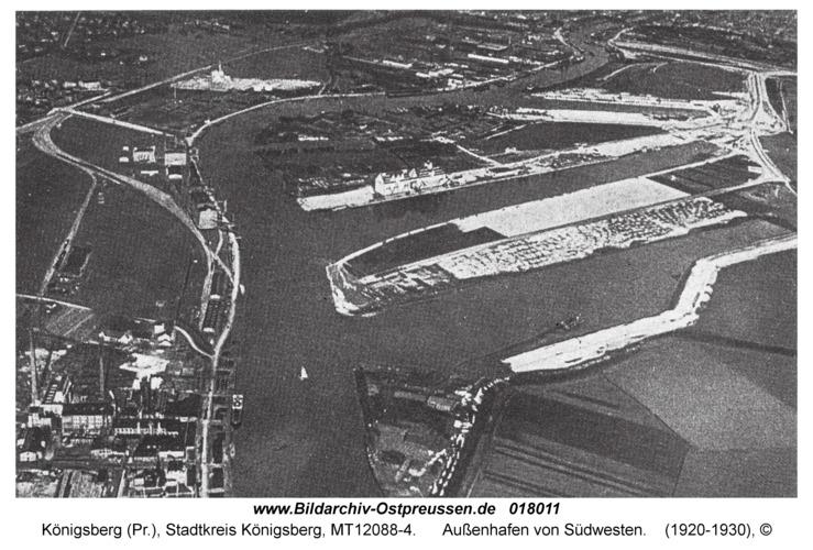 Königsberg, Außenhafen von Südwesten