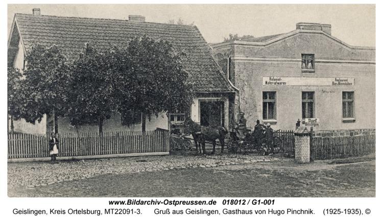 Geislingen, Gruß aus Geislingen, Gasthaus von Hugo Pinchnik