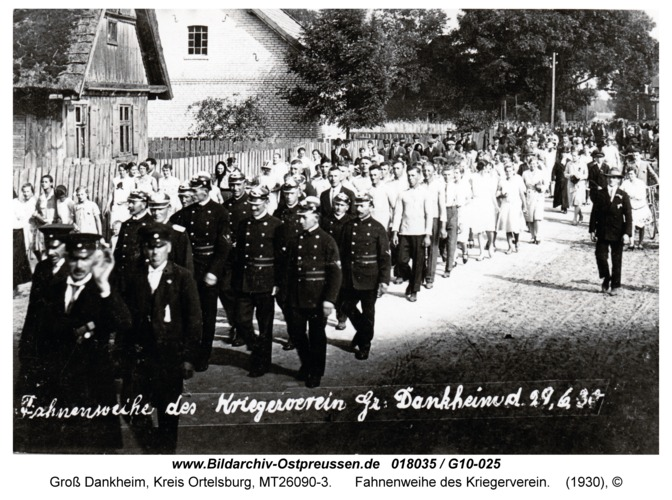 Groß Dankheim, Fahnenweihe des Kriegerverein