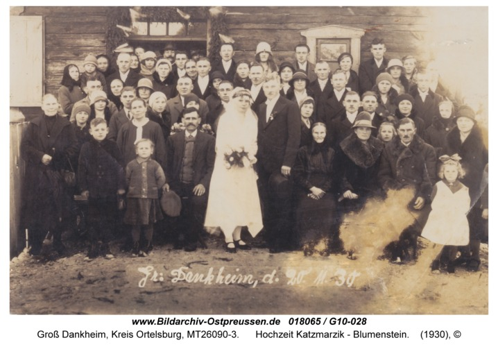 Groß Dankheim, Hochzeit Katzmarzik - Blumenstein