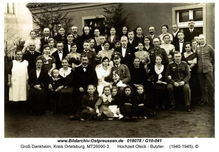 Groß Dankheim, Hochzeit Oleck - Butzler