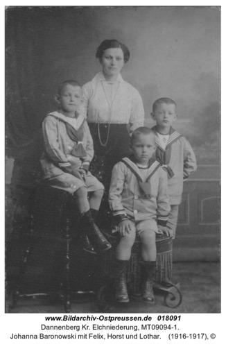 Dannenberg, Johanna Baronowski mit Felix, Horst und Lothar