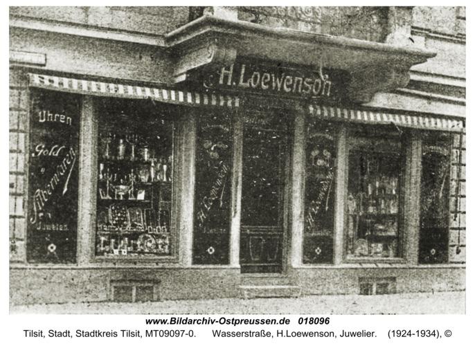 Tilsit, Wasserstraße, H.Loewenson, Juwelier