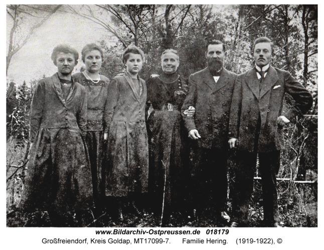 Großfreiendorf fr. Groß Rosinsko, Familie Hering