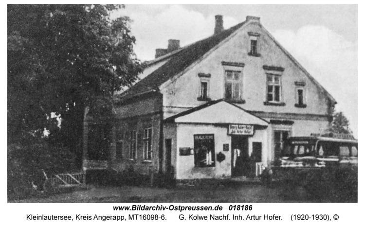 Kleinlautersee Kr.Angerapp vormals Schabienen, G. Kolwe Nachf. Inh. Artur Hofer