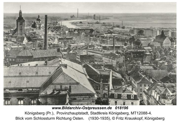 Königsberg, Blick vom Schloßturm Richtung Osten