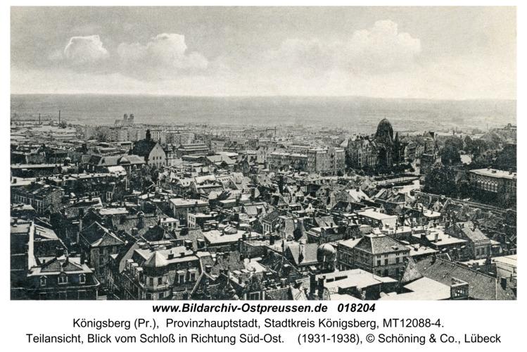 Königsberg, Teilansicht, Blick vom Schloß in Richtung Süd-Ost
