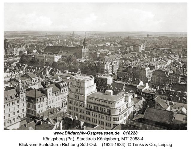 Königsberg, Blick vom Schloßturm Richtung Süd-Ost