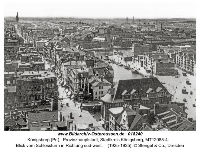Königsberg, Blick vom Schlossturm in Richtung süd-west