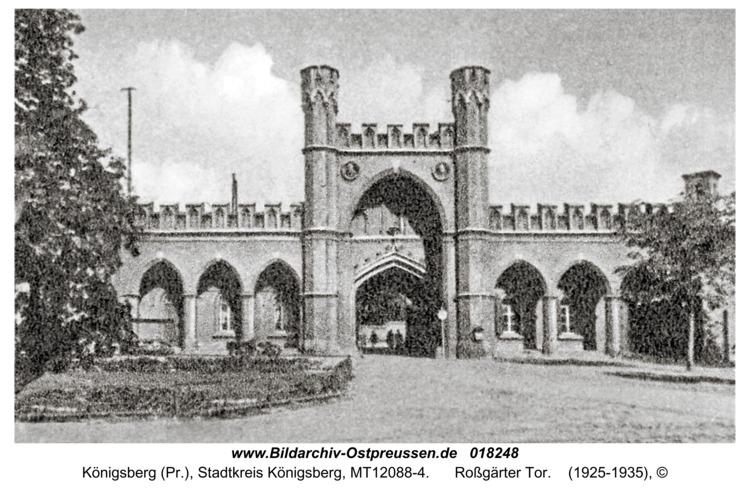 Königsberg, Roßgärter Tor