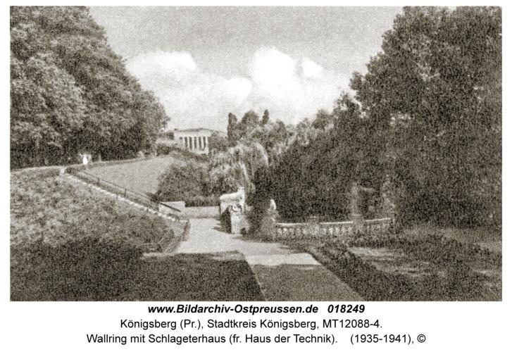 Königsberg, Wallring mit Schlageterhaus (fr. Haus der Technik)