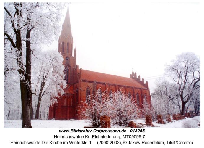 Heinrichswalde Die Kirche im Winterkleid