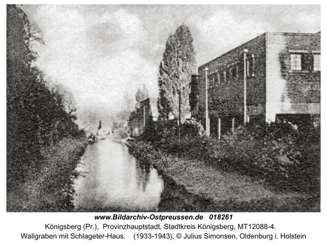 Königsberg, Wallgraben mit Schlageter-Haus