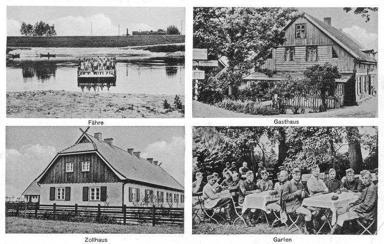 Schanzenkrug Kr. Tilsit-Ragnit, Fähre, Gasthaus, Zollhaus