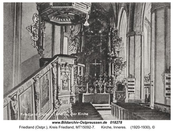 Friedland, Kirche, Inneres