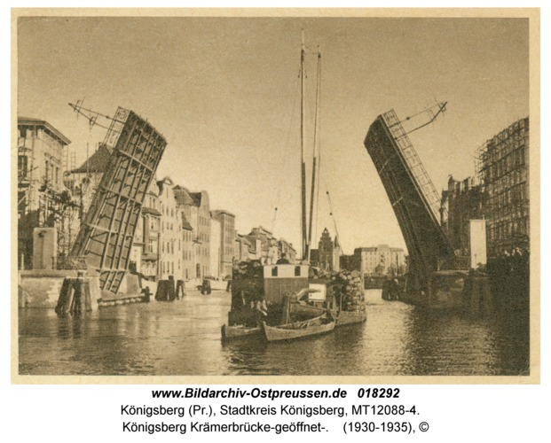 Königsberg Krämerbrücke-geöffnet-