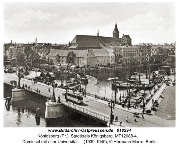 Königsberg, Dominsel mit alter Universität