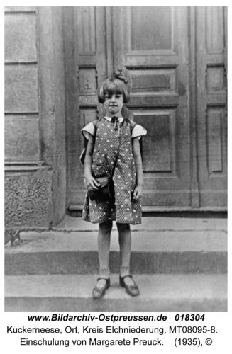 Kuckerneese, Hindenburg-Schule, Einschulung von Margarete Preuck