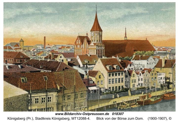 Königsberg (Pr.), Blick von der Börse zum Dom