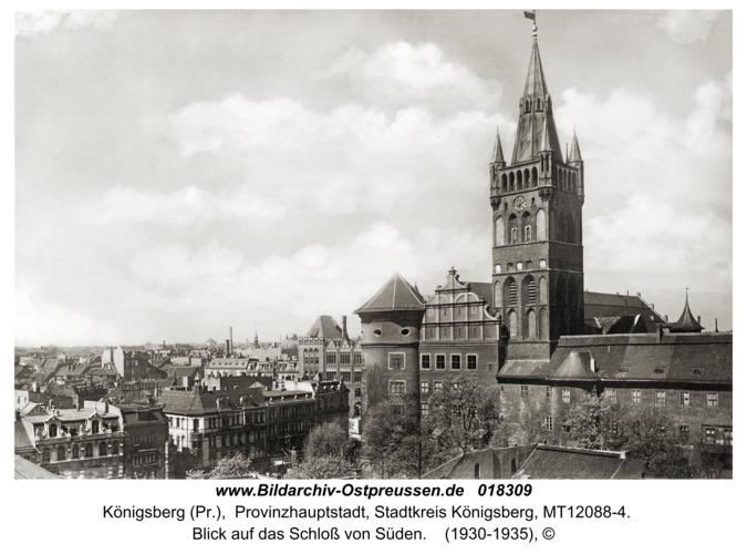 Königsberg, Blick auf das Schloß von Süden