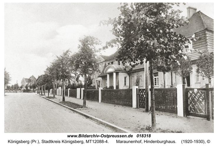 Königsberg, Maraunenhof, Hindenburghaus