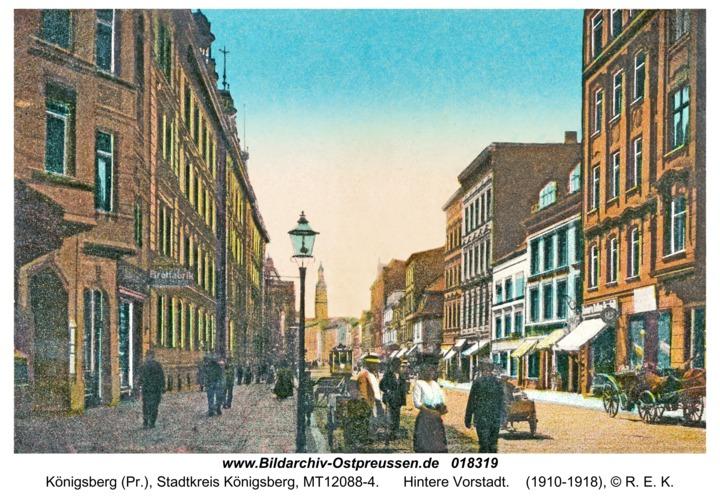 Königsberg, Hintere Vorstadt