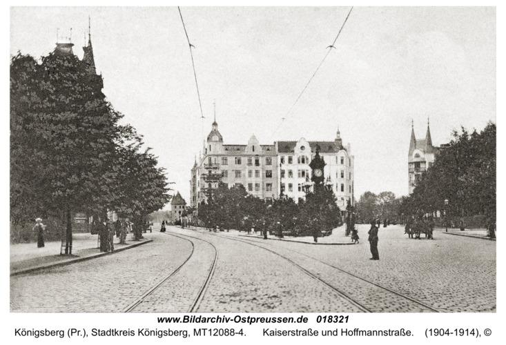 Königsberg, Kaiserstraße und Hoffmannstraße