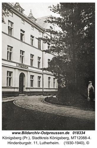 Königsberg, Hindenburgstr. 11, Lutherheim